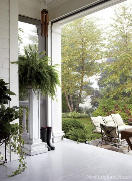 The porch is one of Ruderman's favorite spots because, she says, it reflects who she is as a designer.