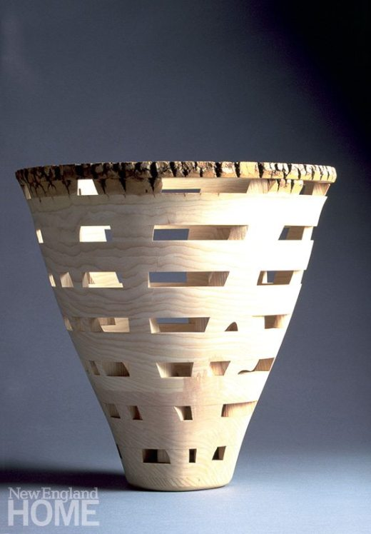 Window Vessel (1998), white ash, 17″H × 17″D
