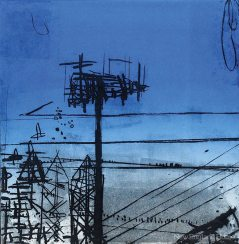 Roxy's Cell Tower, from the Blue Plate Specials series (2010), paper lithograph monoprint