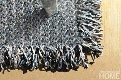 The Bo Derek braided rug in Storm.