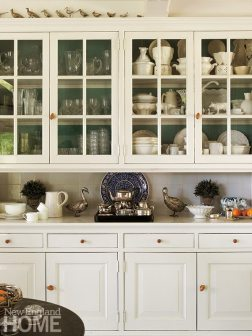 The kitchen cabinets were custom built on site by Dutch cabinetmakers.
