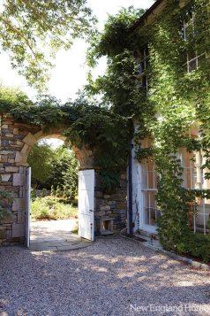 An entry to the European garden.