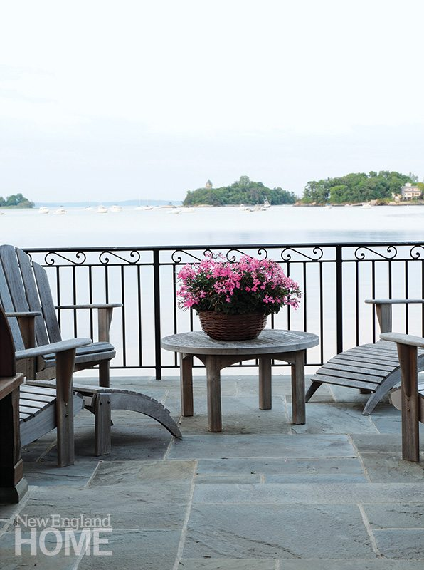 An elevated bluestone patio offers one of the site's best views.
