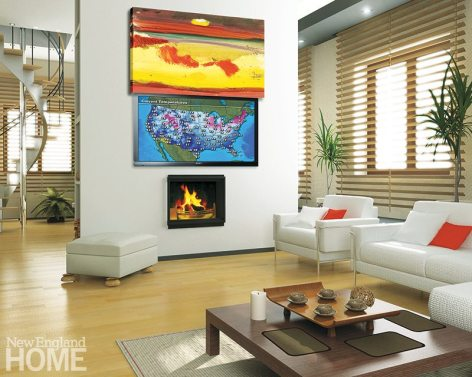 The Allure Moving Art system offers more than 3,600 works of art to camouflage the TV.