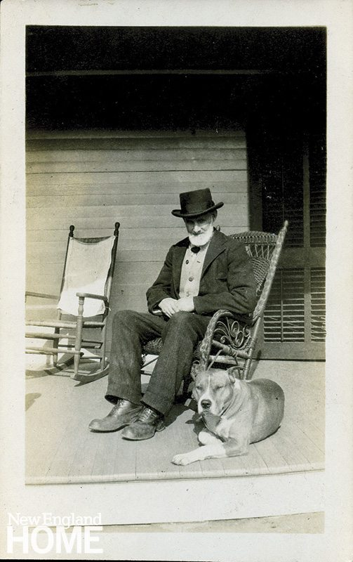 Founder Robert Gault and his dog Brownie in 1915.