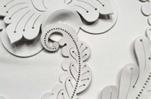 genevieve bennett sculpted leather wall panel