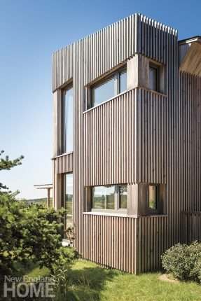 Contemporary Maine compound vertical siding