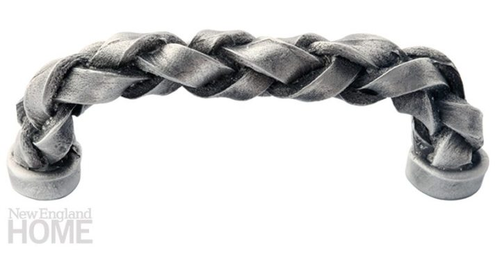Braid Brigade. In its shop in Woodbury, Connecticut, York Studio creates finely crafted furniture and accessories for the home, including a line of braided handles and drawer pulls, like the pewter handle shown here. 35⁄8″L. $52. Raybern Hardware, Charlestown, Mass., (617) 666-3000, raybernhardware.com