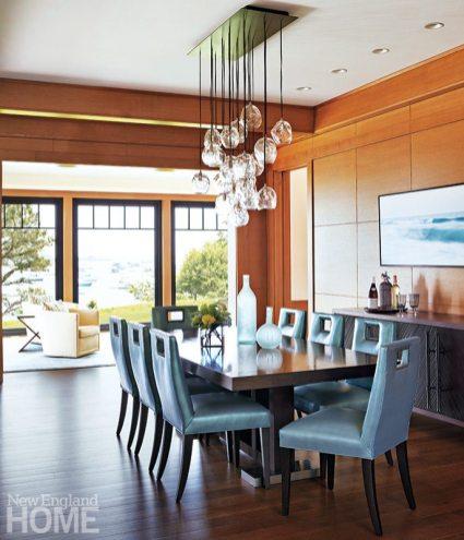 Hutker Architects glass chandelier