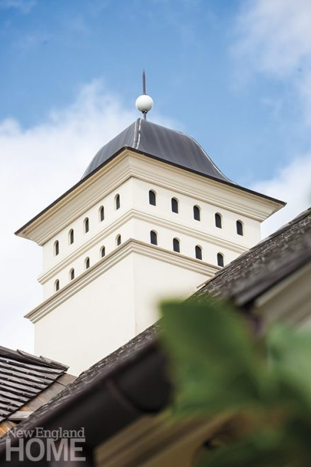 The cupola's nest holes are a clever trompe l'oeil.