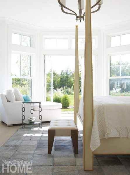 Contemporary Martha's Vineyard home master bedroom