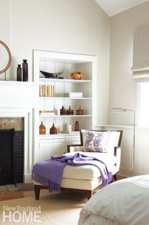 """The home holds many """"country modern"""" vignettes, including a corner retreat in the master suite."""