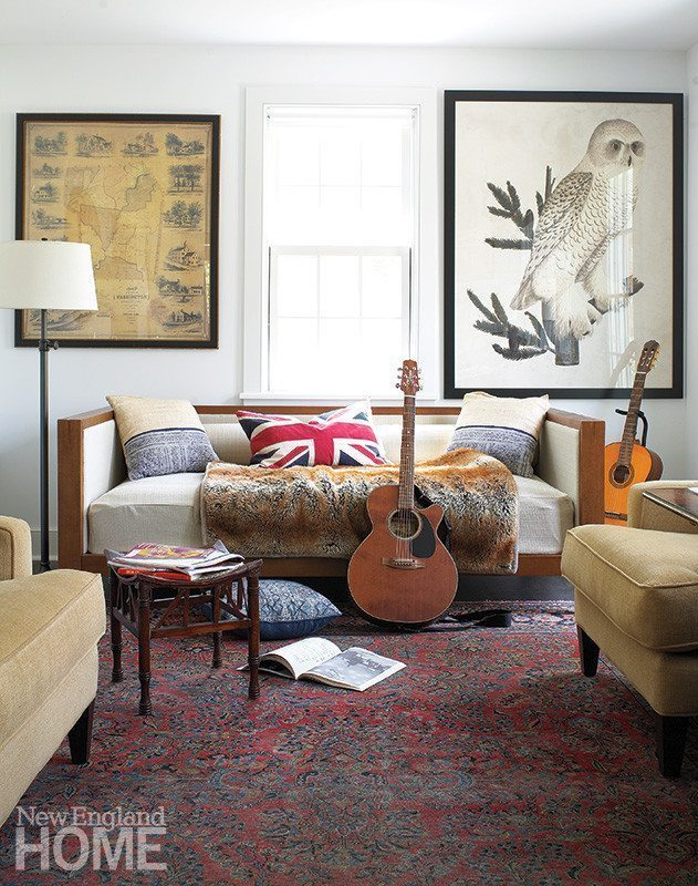 anthropologie sofa ebay samuel black bonded leather personal best - new england home magazine