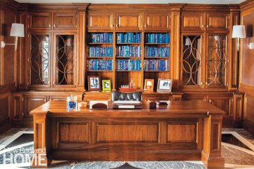The designer has expanded his offerings to include fine fitted furniture for other rooms, such as this library.
