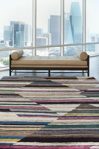 dover rug color blocking