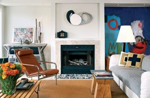 Provincetown Living Room of Tom Huth and Bruce Danzer