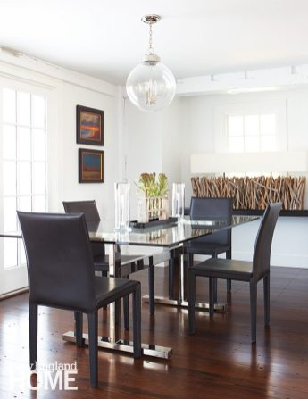 Sheridan Interiors glass-topped table