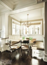 Cozy and intimate as the breakfast nook is, the banquette can accommodate up to twelve people.