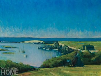 Chilmark in May (2014), oil on canvas, 20″H × 30″W