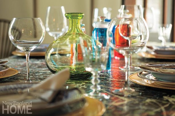 A closer look at hand-blown vases from Sea Wicks in Damariscotta, Maine