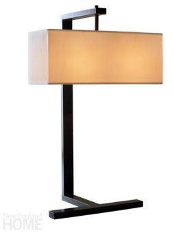 The Arts & Crafts-inspired Hadley table lamp. Cl