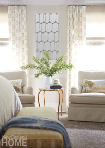 Detail of the master bedroom sitting area.