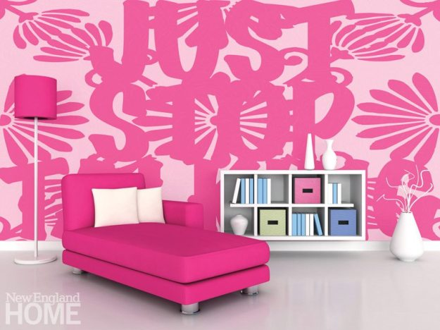 Just Stop (2013), a custom-designed wallcovering for a private client.