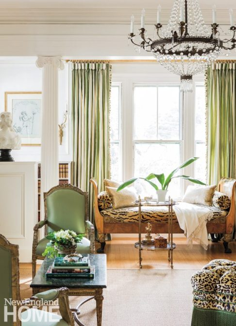 The nineteenth-century French chandelier was scored during one of many -antiquing trips to Hudson, New York.