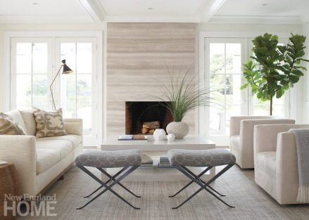Nantucket Shingle Style Living Room