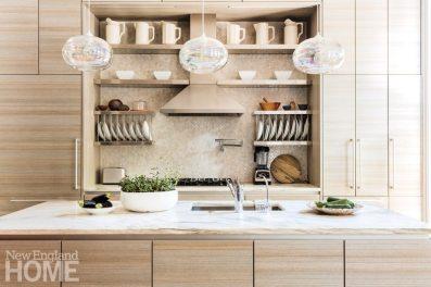 Contemporary Boston Townhouse Kitchen