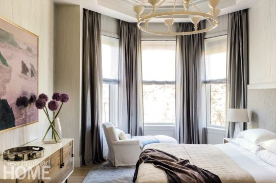 Contemporary Boston Townhouse Guest Bedroom