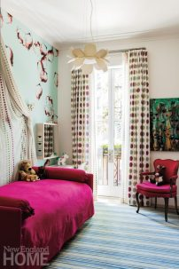 Contemporary Boston Townhouse Girl's Room