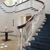 The traditional, yet dramatic, entry hall.