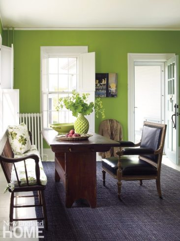 Gayle Mandle Front Room with Green Walls