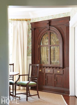 Southport Shingle Style Corner Cabinet
