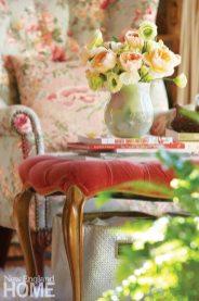 Home of Artist Rachel Valpone Floral Chair