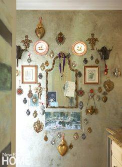 Home of Artist Rachel Valpone Kitchen Wall