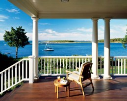 """""""€œThe porch is an incredible place to watch the boats,"""" says the wife."""
