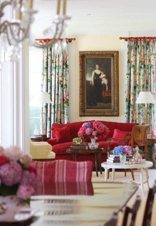 Fairfield County Georgian Colonial Living Room