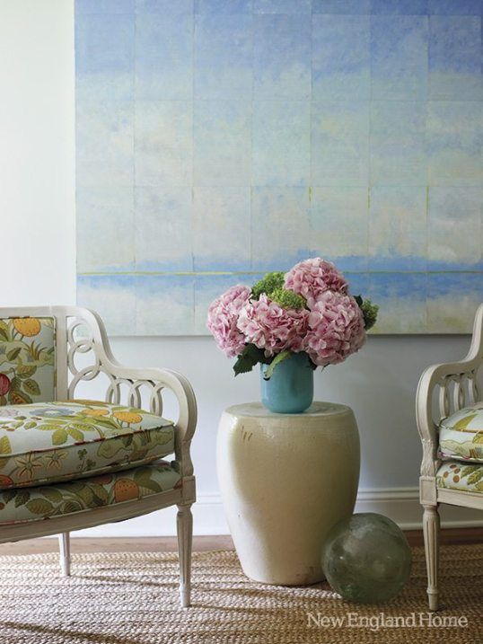 Turquoise touches run throughout the house from art to accessories.