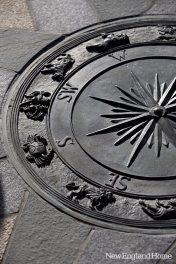 For the gazebo floor, Artemis Landscape designed a compass rose.