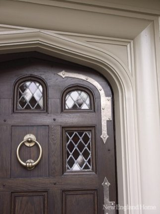 Many details, including the front door, are original to the house.