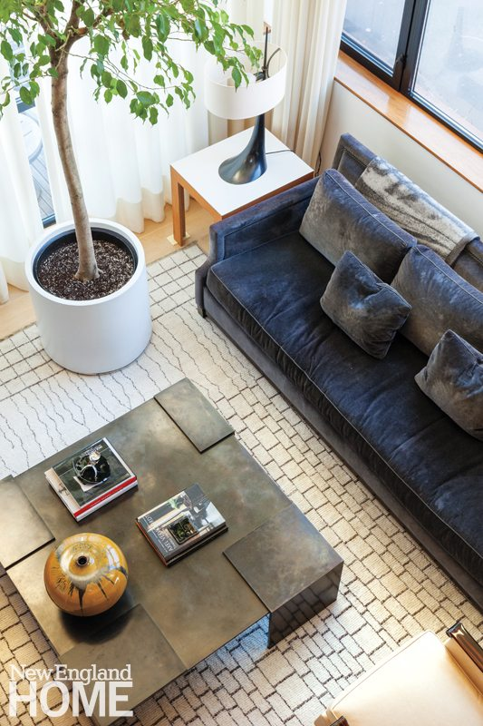 Contemporary Boston South End Townhouse Living Room
