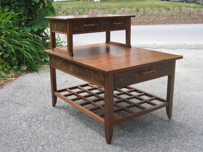 Large Bedside Table, walnut