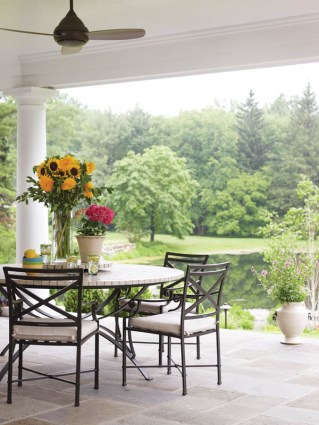 Country Club Homes Shingle Style Porch