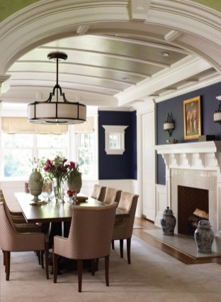 Country Club Homes Shingle Style Dining Room