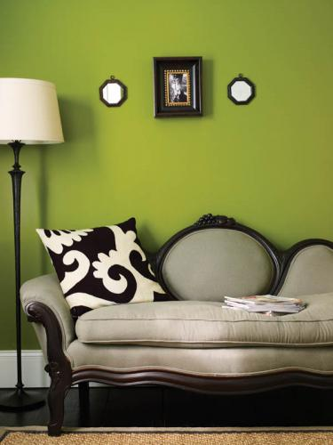 Fairfield County Federal Style Green Accent Wall