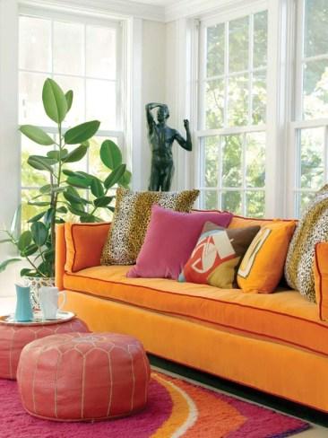 The vibrant hues make the sunroom Gallipoli's favorite space.