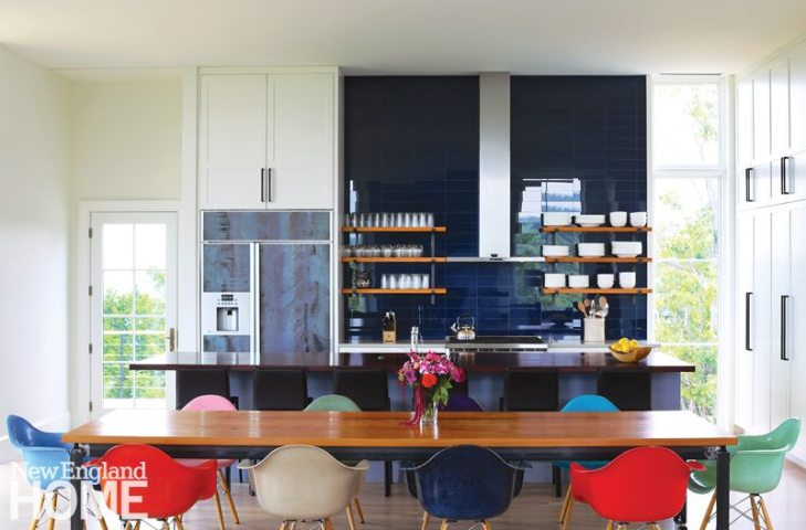 Architect Chris Hosford and builder Kevin Cradock equipped this kitchen in a fresh combination of colors and materials.