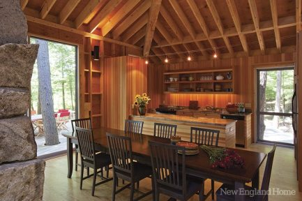The kitchen and dining area, though simple, can accommodate the whole family.